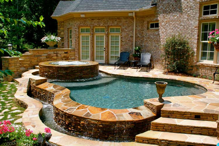 Frank bowman designs inc swimming pool landscape for Plunge pool design