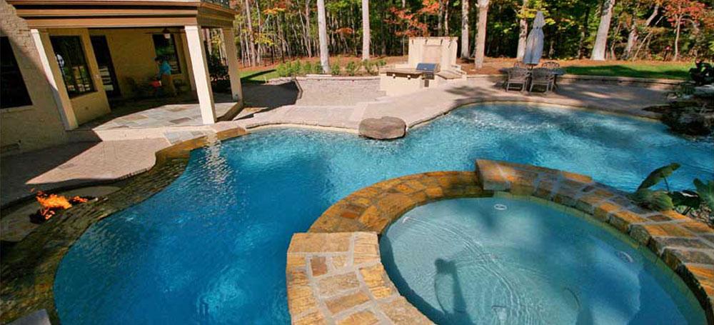 Raleigh Custom Swimming Pool Builder - Frank Bowman Designs ...